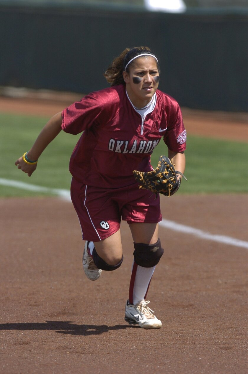 Escondido High graduate Mariee Mena played volleyball, tennis, softball and soccer for the Cougars.  <em>   &#8201; University of Oklahoma photo  </em>