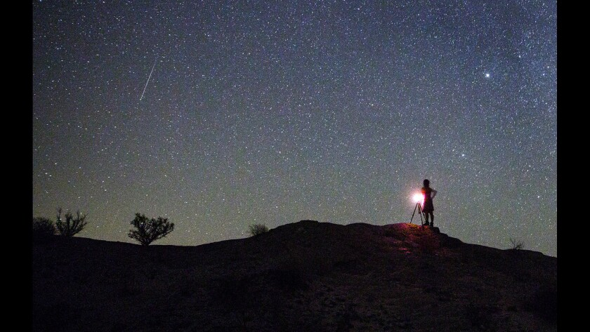 Anza Borrego Desert State Park is one good spot to take in a meteor shower.