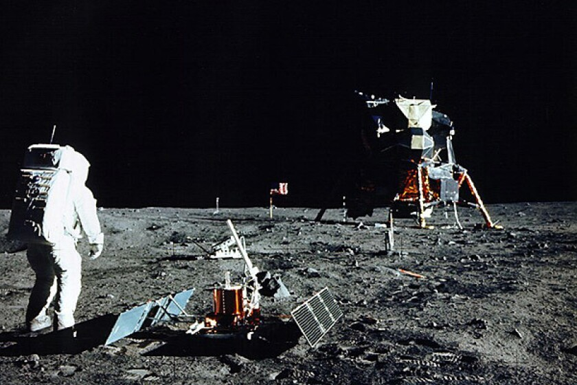 Buzz Aldrin's 1969 moonwalk