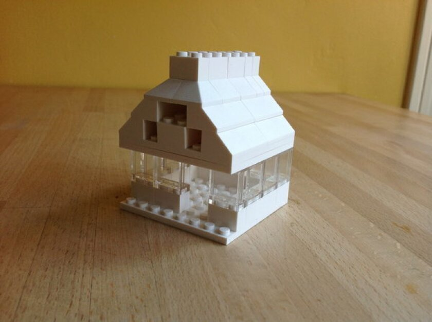 Even a pitched-roof design from the Lego Architecture Studio looks a bit modern.
