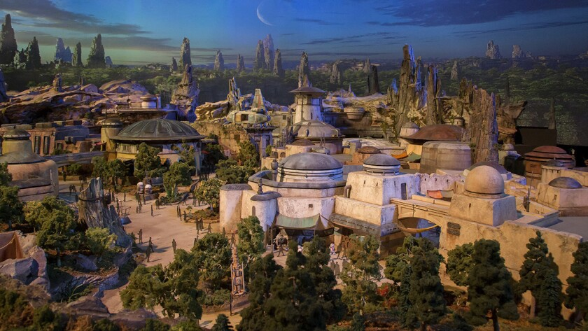A depiction of the new Star Wars land expansion was unveiled at this week at D23, an expo for Disney