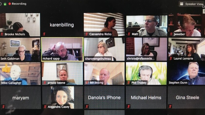 The RSF Association board's first virtual meeting.