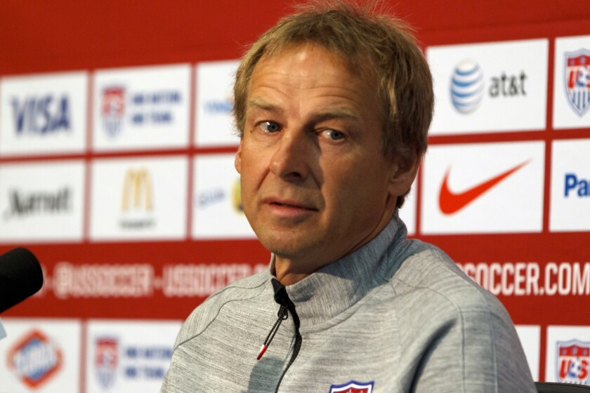 Don't expect big things from the U.S. team at the World Cup, Coach Juergen Klinsmann says.