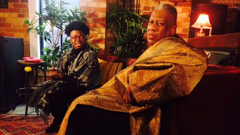 Times writer Tre'vell Anderson with fashion icon André Leon Talley.