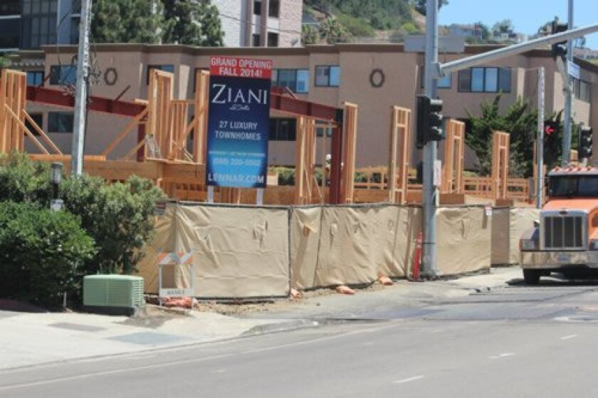 Calls and e-mails to Lennar Homes requesting information about its Ziani project at 2404 Torrey Pines Road (including when it is scheduled to open) were not returned by press time.