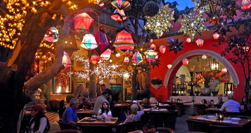 You're under the stars - even when the stars are not out - at Casa Luna, a restaurant in Tlaquepaque.