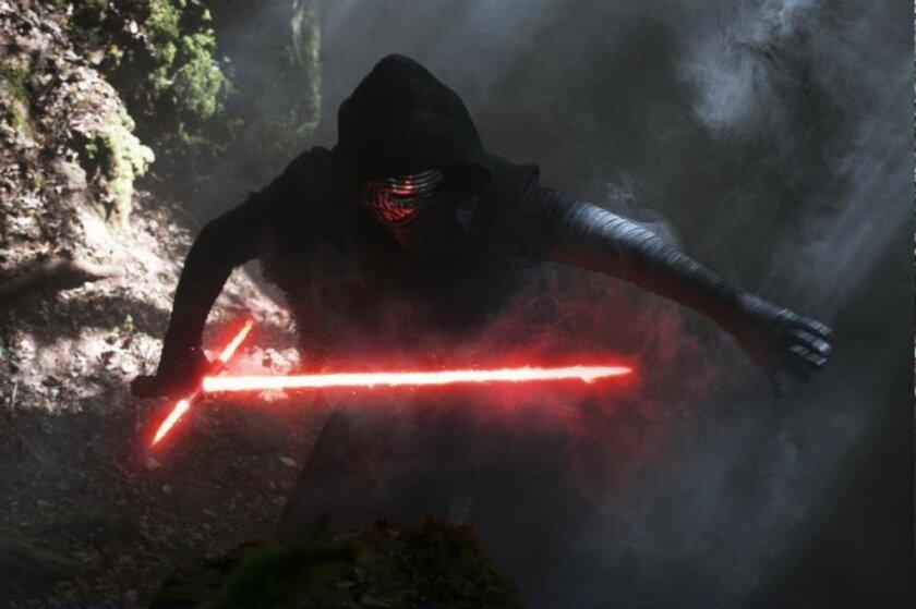 "Adam Driver in ""Star Wars: The Force Awakens."""