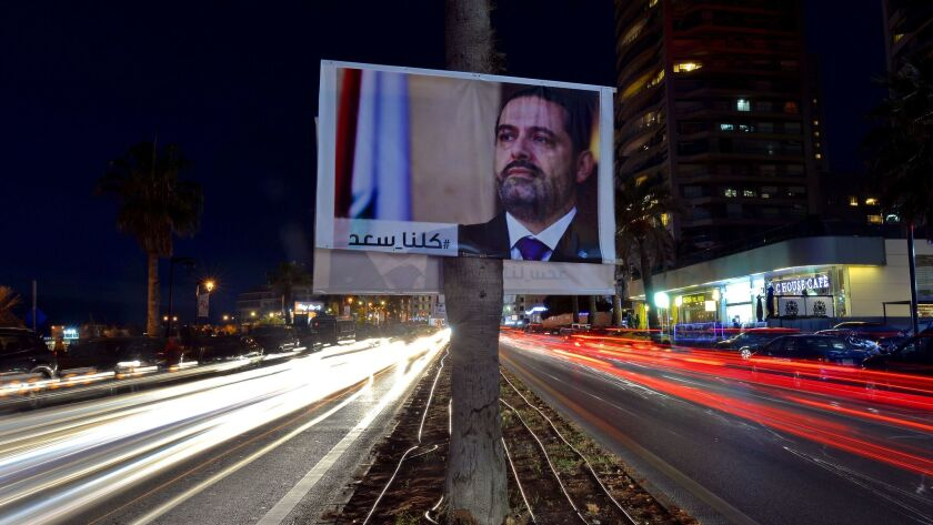 Resignation of Lebanese Prime Minister aftermath, Beirut, Lebanon - 10 Nov 2017