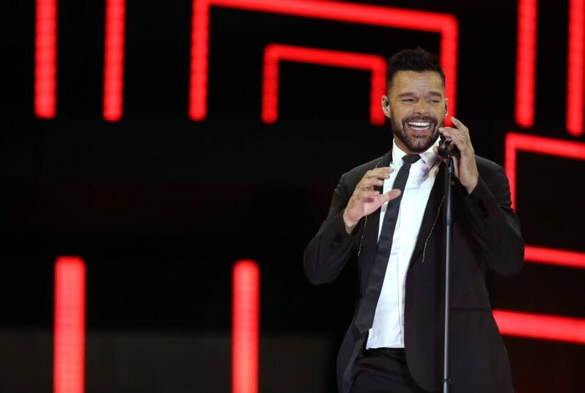 El cantante boricua Ricky Martin es uno de los artistas que estará en la tarima de los premios Grammy.
