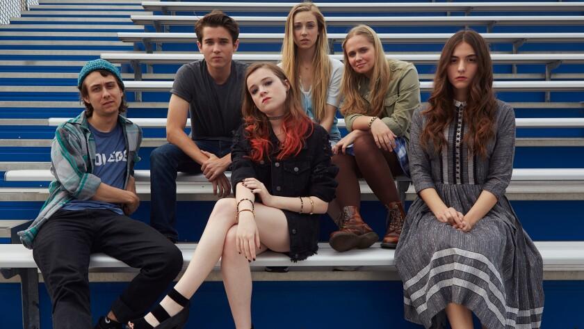 (L-R) - Owen Campell, Luke Slattery, Nadia Alexander, Sarah Mezzanotte, Tessa Albertson, and Quinn S