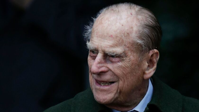 Britain's Prince Philip after attending Christmas Day services at St. Mary Magdalene Church in Sandringham, England, last year.