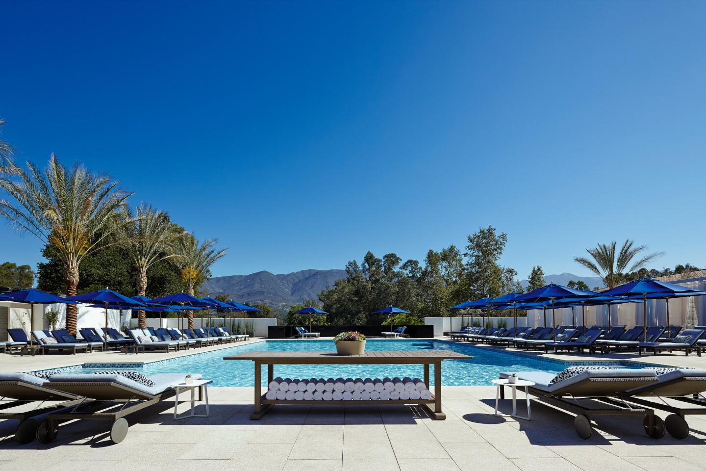 The Indigo Pool & Bar is a new adults-only space at the Ojai Valley Inn & Spa.