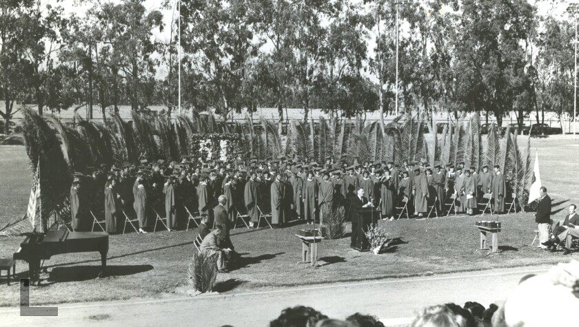 Pictured is the first graduating class of Newport Harbor High School in 1932.