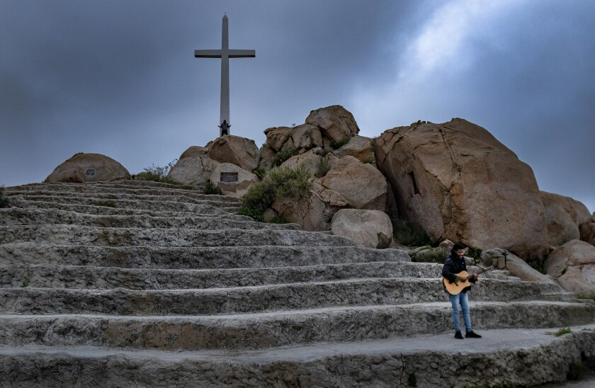 Virtual Easter service on Mt. Rubidoux