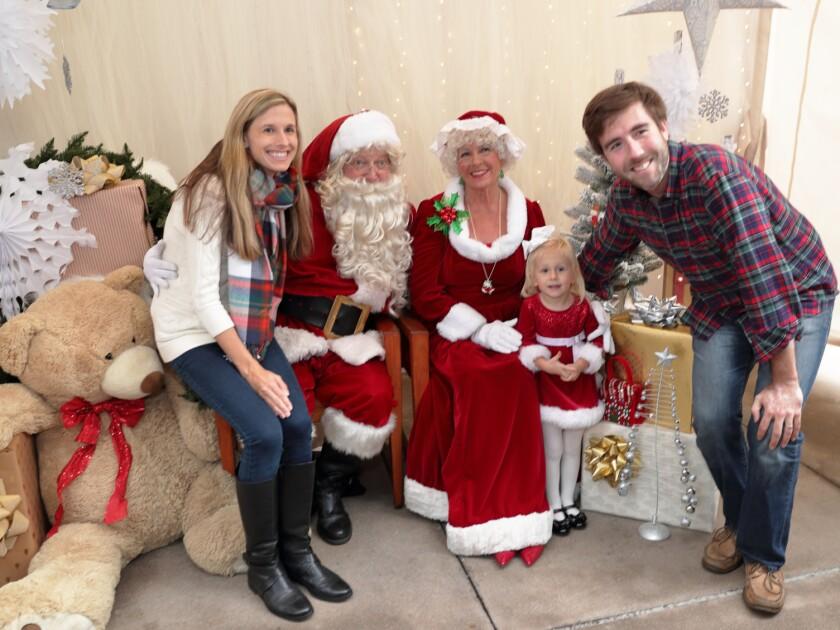 The Bailey family visits Santa and Mrs. Santa in Del Mar