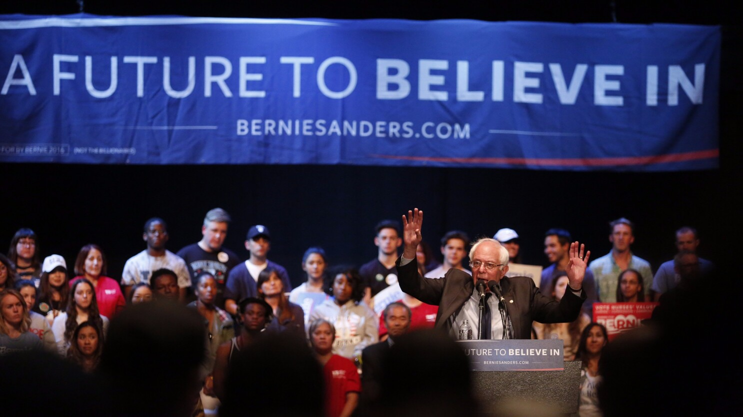 Naked girls at bernie sanders rally She Was Arrested For Being Topless At A Sanders Rally Now She S Suing Lapd Los Angeles Times