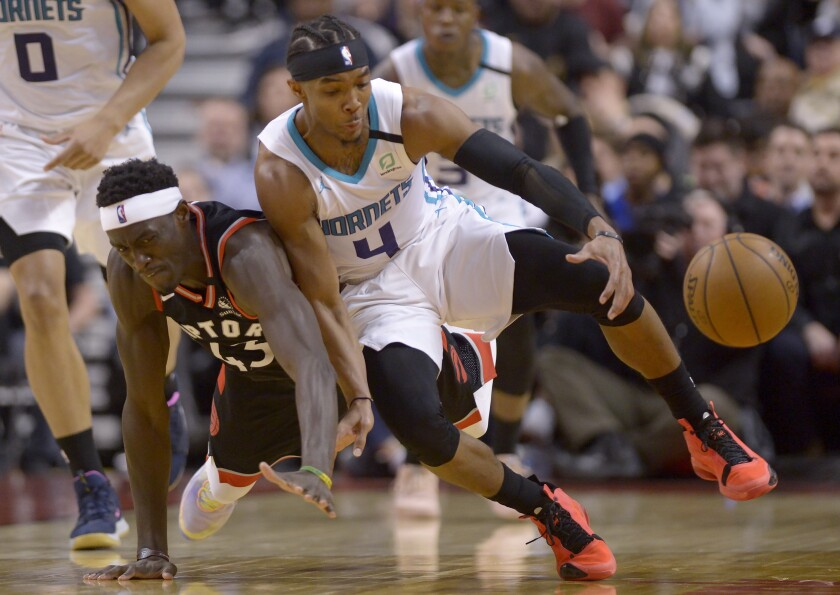Hornets Raptors Basketball