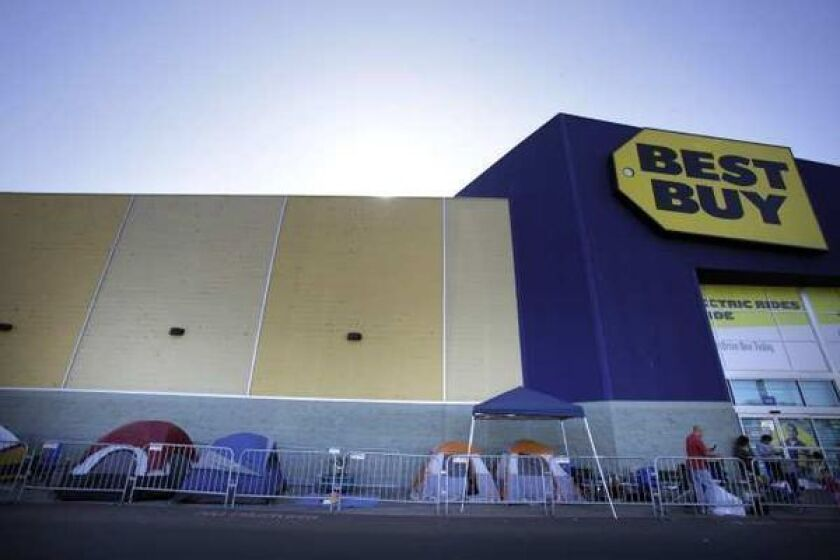 A massive Best Buy store just before the Black Friday sales rush. The Minneapolis consumer electronics retailer plans to shut down 50 of these.