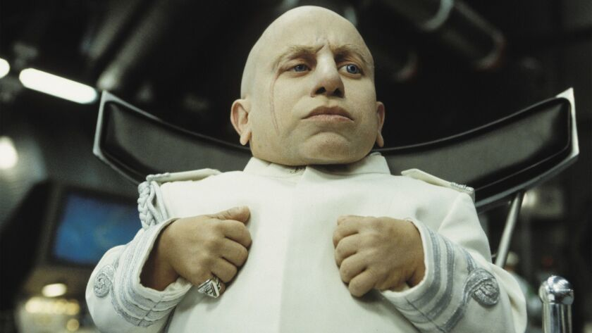 """Verne J. Troyer as """"Mini–Me"""" in 2002's """"Austin Powers in Goldmember."""""""