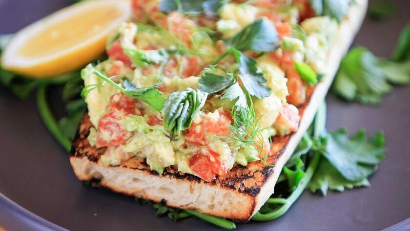 SAN DIEGO, CA January 11th, 2018 | Salmon Tartare on Toast dish by Chef William Eick of 608 Restaura