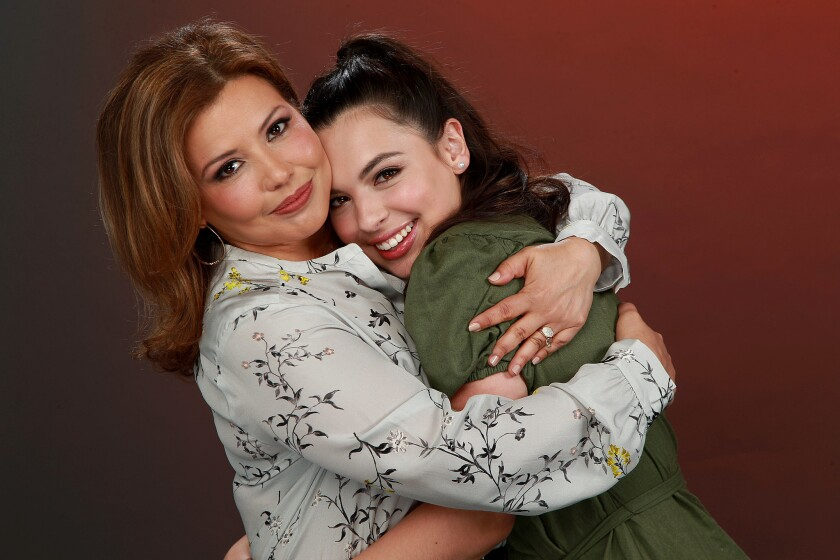 """(L-R)- Justina Machado and Isabella Gomez star in Netflix-original comedy-drama """"One Day at a Time."""""""