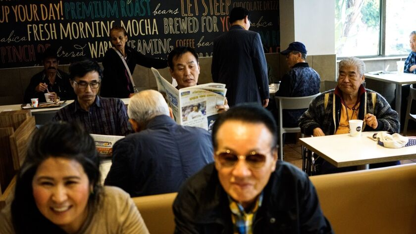 At a McDonald's in Koreatown on Friday morning, the historic summit between South Korean President Moon Jae-in and North Korean leader Kim Jong Un dominated conversations at nearly every table.
