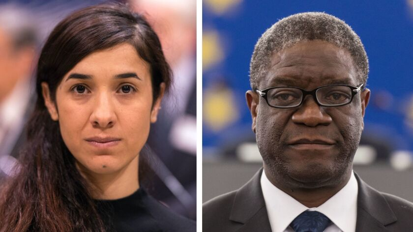Nadia Murad wins 2018 Nobel Peace Prize, Strasbourg, France - 10 Oct 2016