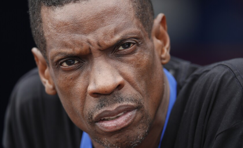 Former New York Mets pitcher Dwight Gooden in 2017.