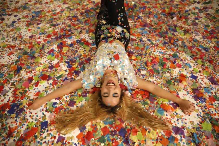 Photographer Jelena Aleksich, founder of the Confetti Project, at the APEX studios in downtown Los Angeles.