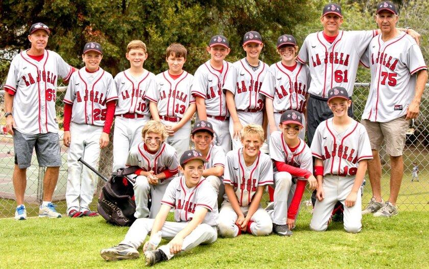 La Jolla Youth Baseball's Bronco 12U team
