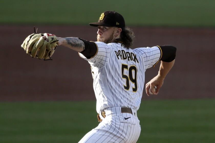 San Diego Padres starting pitcher Chris Paddack