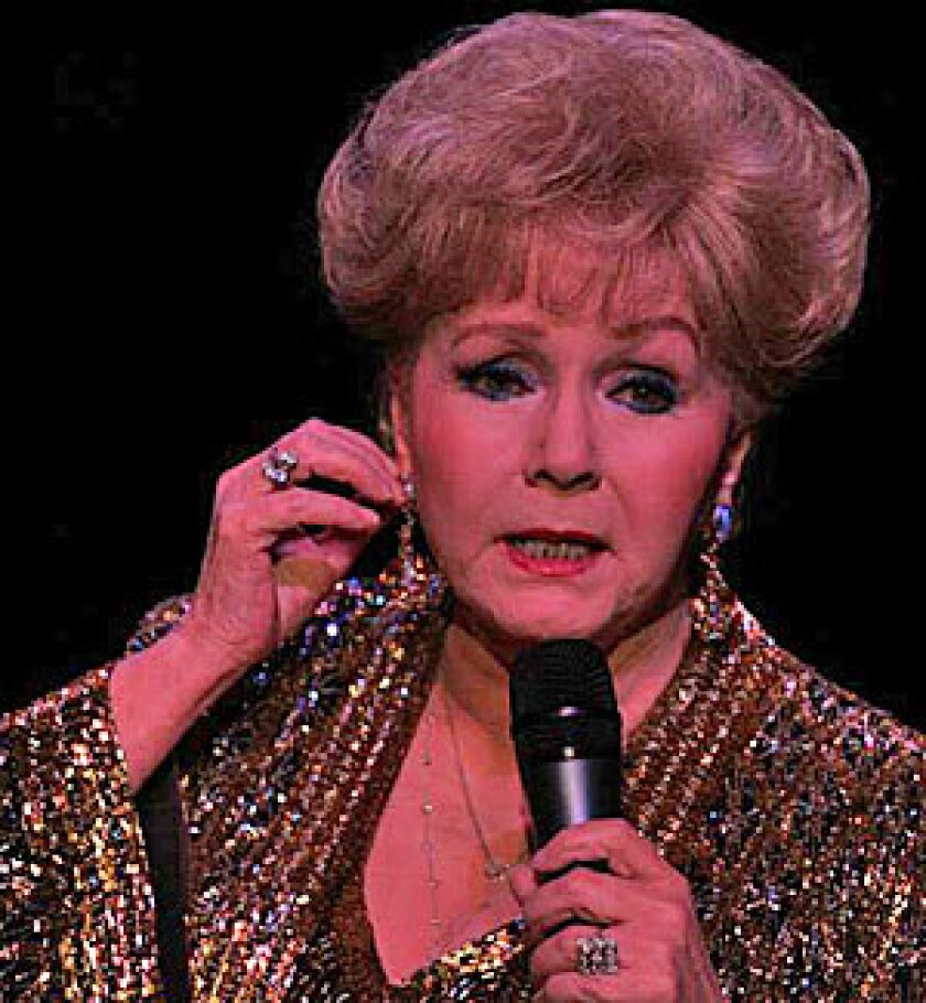AN ICON: Debbie Reynolds performs at the El Portal Theatre in North Hollywood.