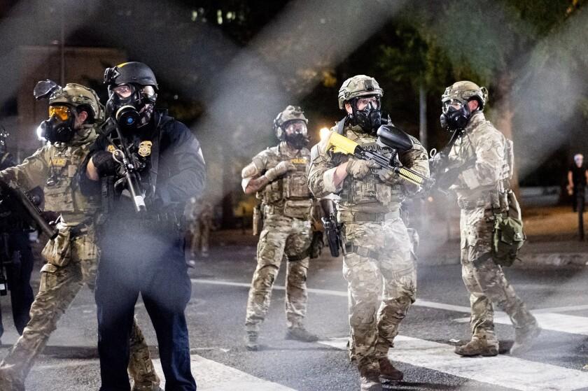 Federal agents in Portland, Oregon