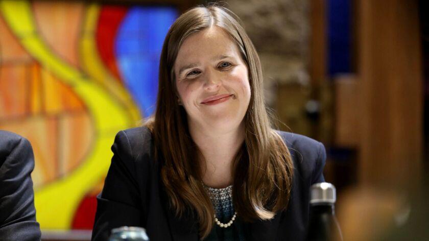 PORTER RANCH, CALIF. -- SUNDAY, APRIL 14, 2019: Loraine Lundquist, educator/scientist/mother, Counci