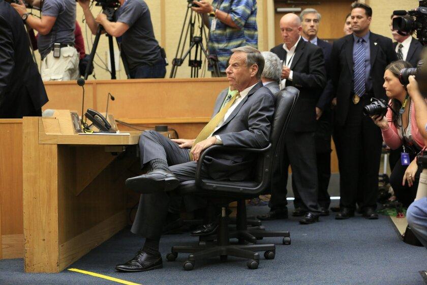 Bob Filner, on the day of his resignation. [U-T file]