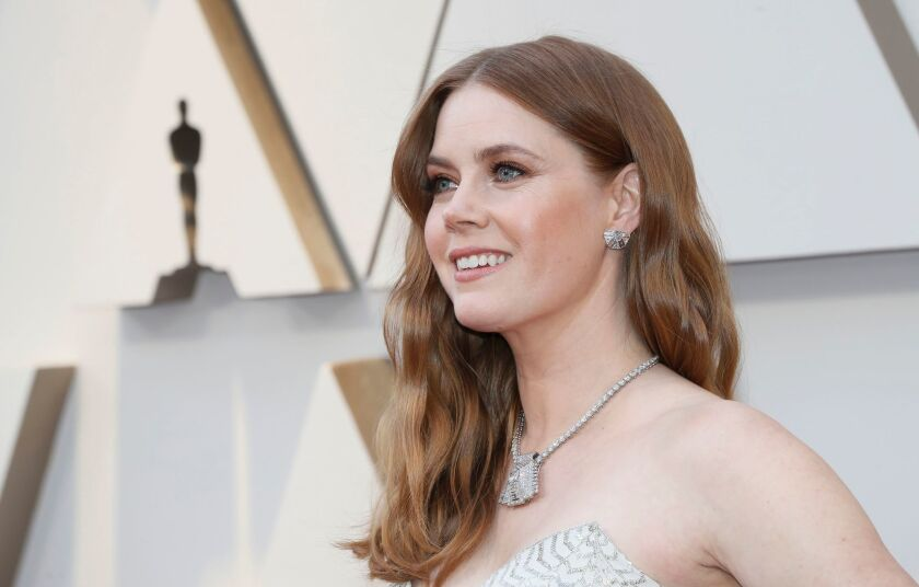 Amy Adams arrives for the 91st Academy Awards at the Dolby Theatre in Hollywood on Feb. 24.