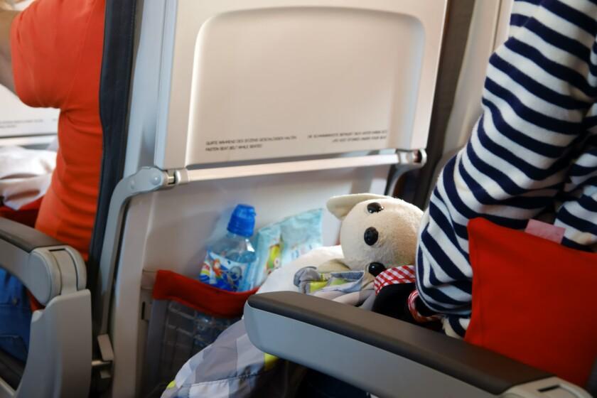 Air travel with children.