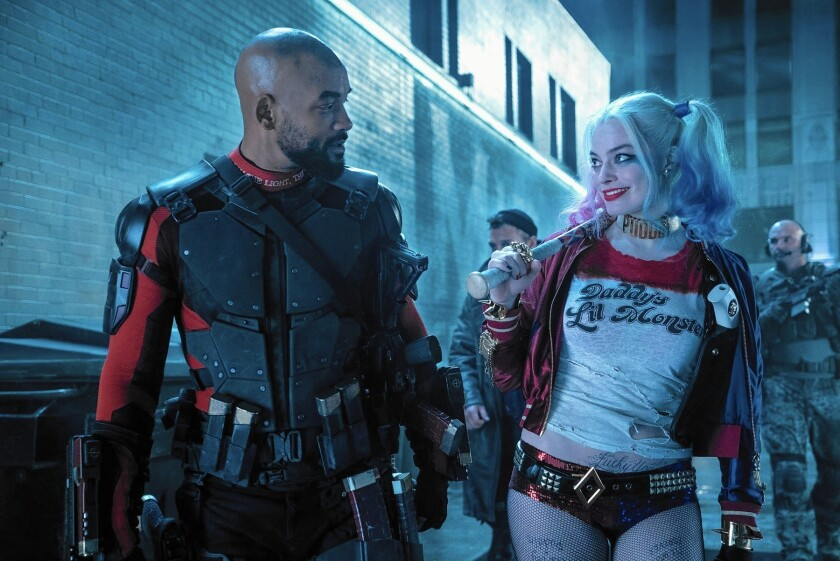 "Will Smith and Margot Robbie in ""Suicide Squad."""