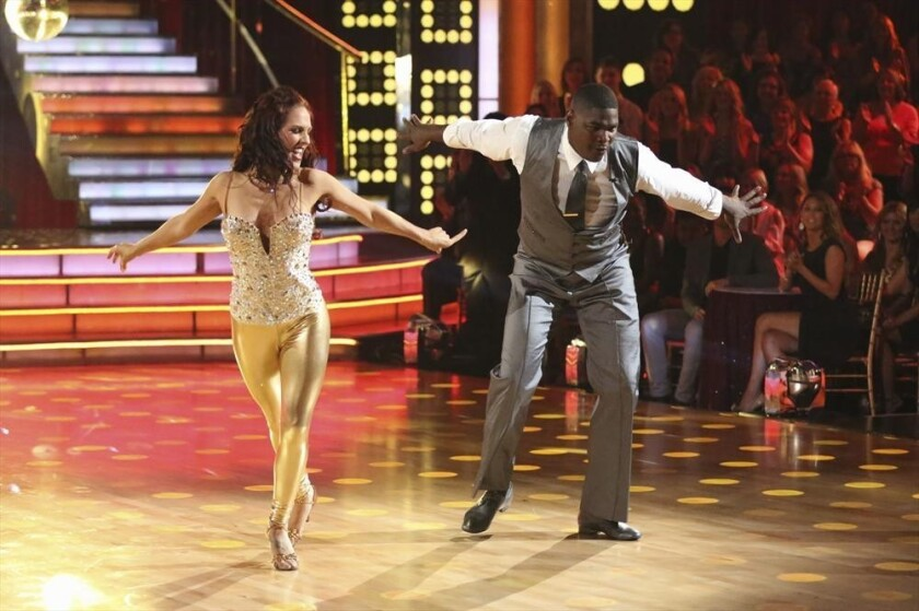 "Sharna Burgess and Keyshawn Johnson on ""Dancing With the Stars."""