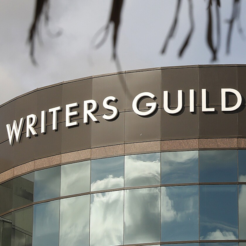 There is a dispute between the Writers Guild of America and the Assn. of Talent Agents.
