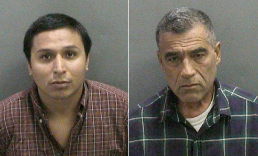 Benjamin Avila, 26, left, and Jose Luis Gonzalez, 63, were charged with having sex with an underage female.