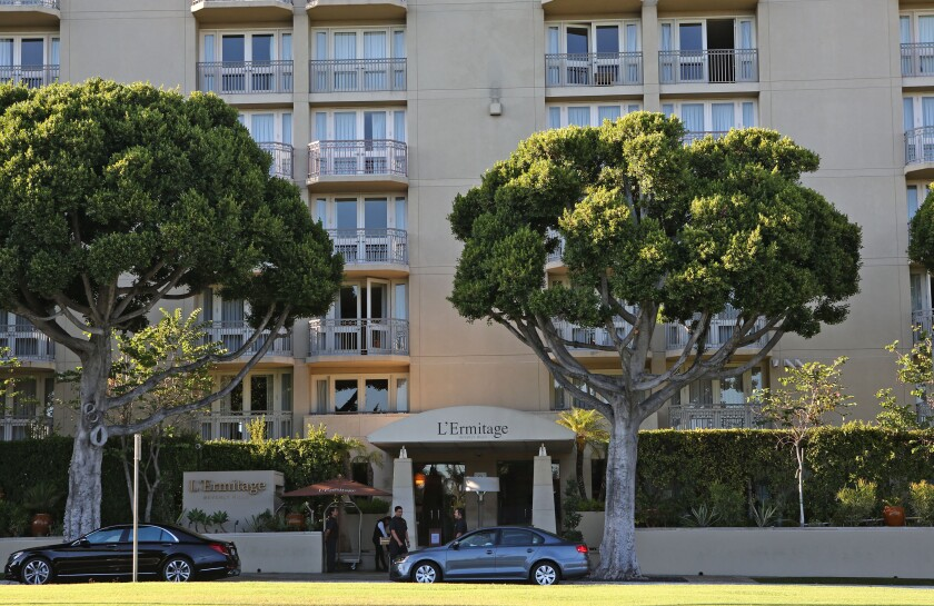 The L'Ermitage hotel in Beverly Hills is shown in September 2014.