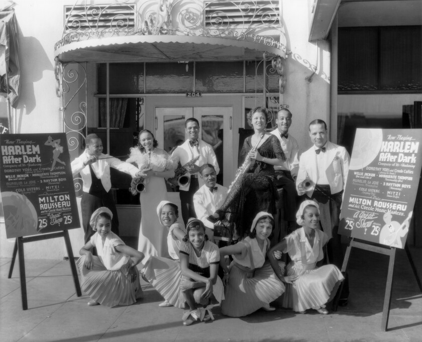 Creole performers at the Douglas Hotel, 1934