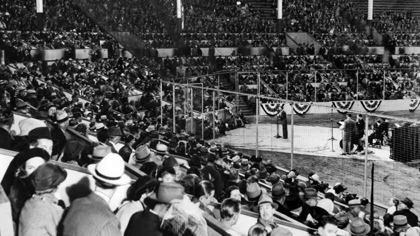 May 1, 1939: Opening ceremonies of Gilmore Field in Hollywood, home of the Hollywood Stars baseball