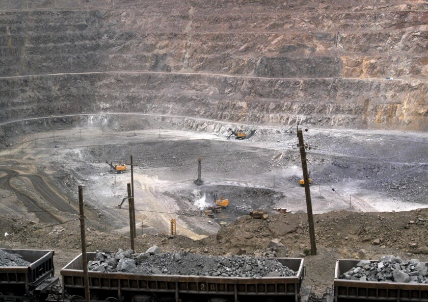 A rare-earth mine in the Baiyunebo mining district of China in 2010.