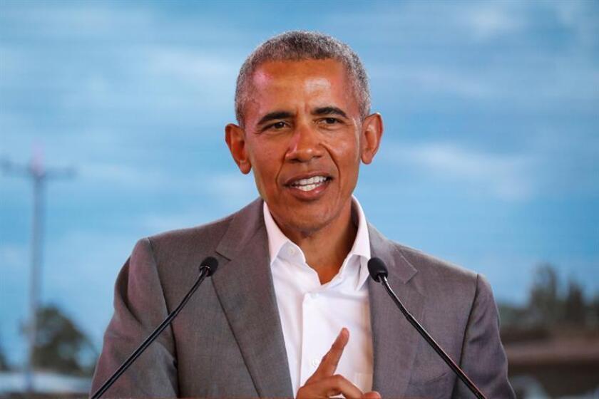 Fotografía de archivo del eexpresidente estadounidense Barack Obama. EFE/Archivo