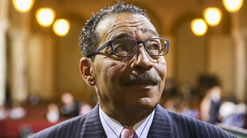 Los Angeles City Council President Herb Wesson at Los Angeles City Hall on July 1, 2015.