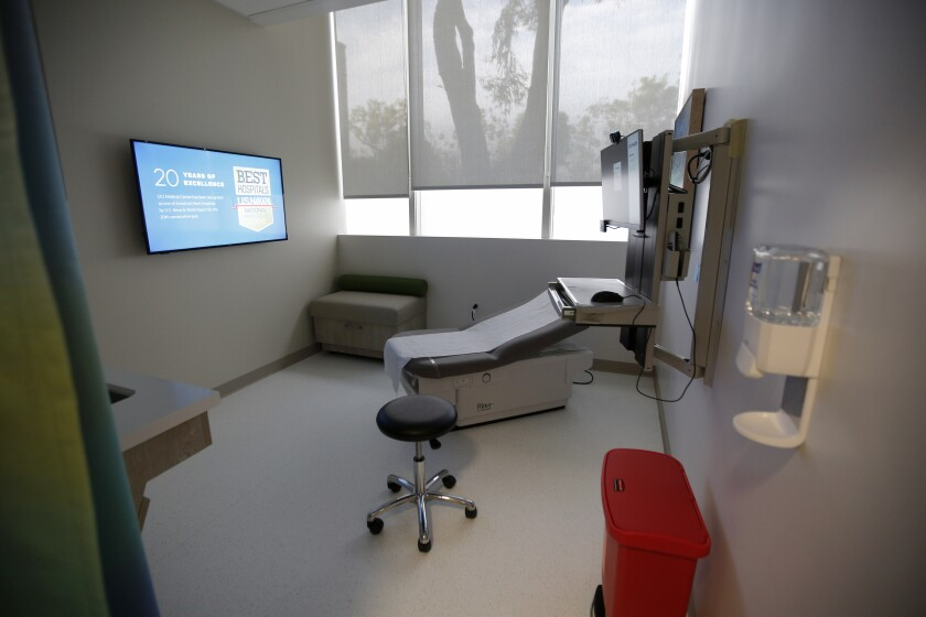 The new UCI Health Newport Beach facility has 14 exam rooms like this one, three treatment rooms and one procedure room.