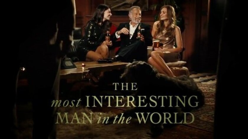 """The most interesting man in the world"" stumps for Obama"