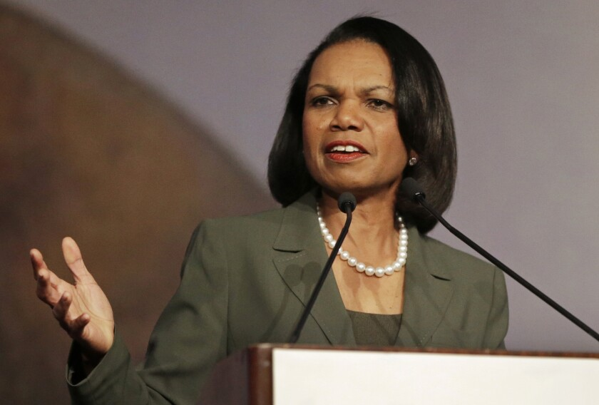 Former Secretary of State Condoleezza Rice: Will her withdrawal from the Rutgers commencement leave an unfillable void?